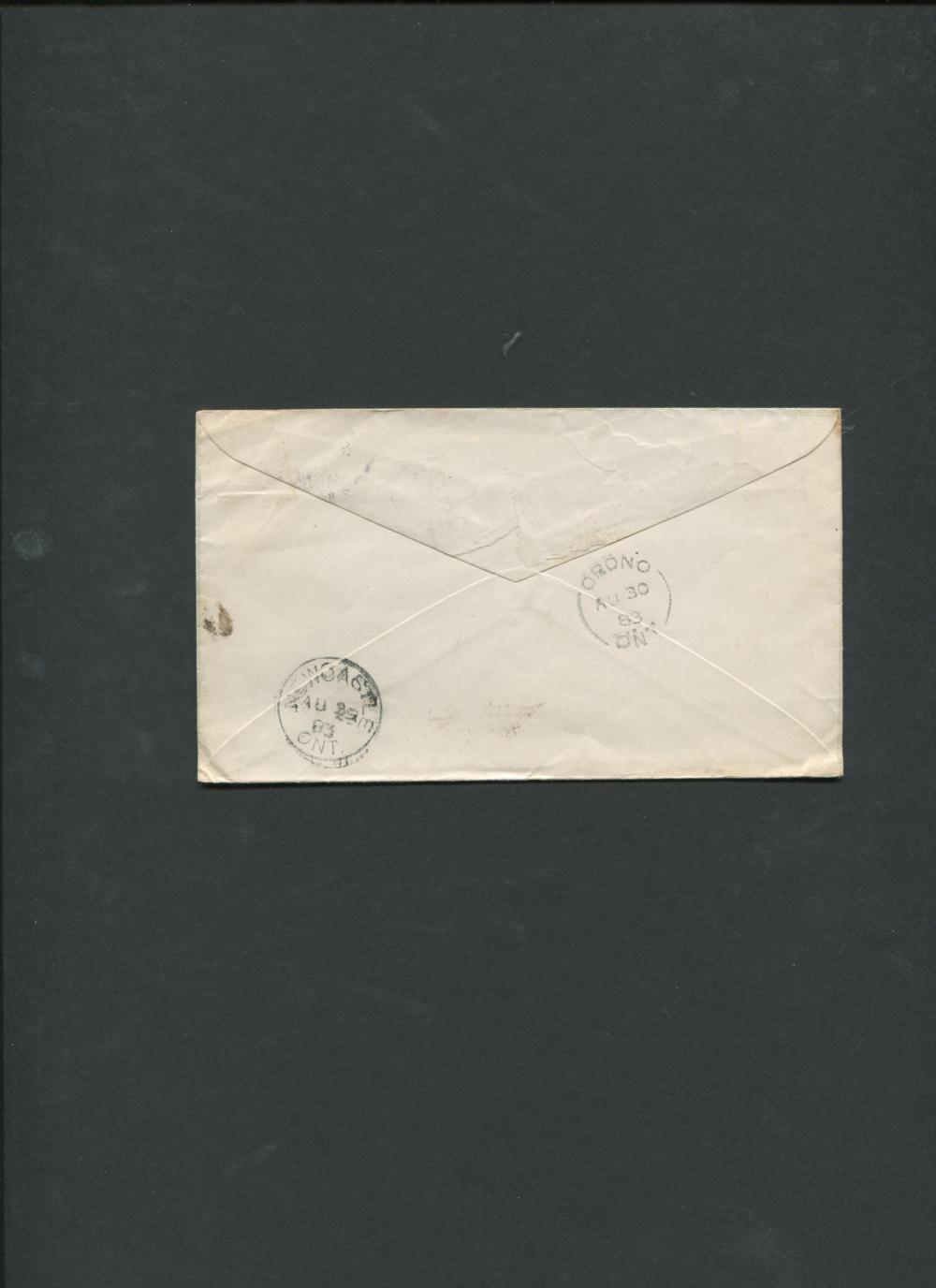 Canada 1883 3c Advertising Cover RARE