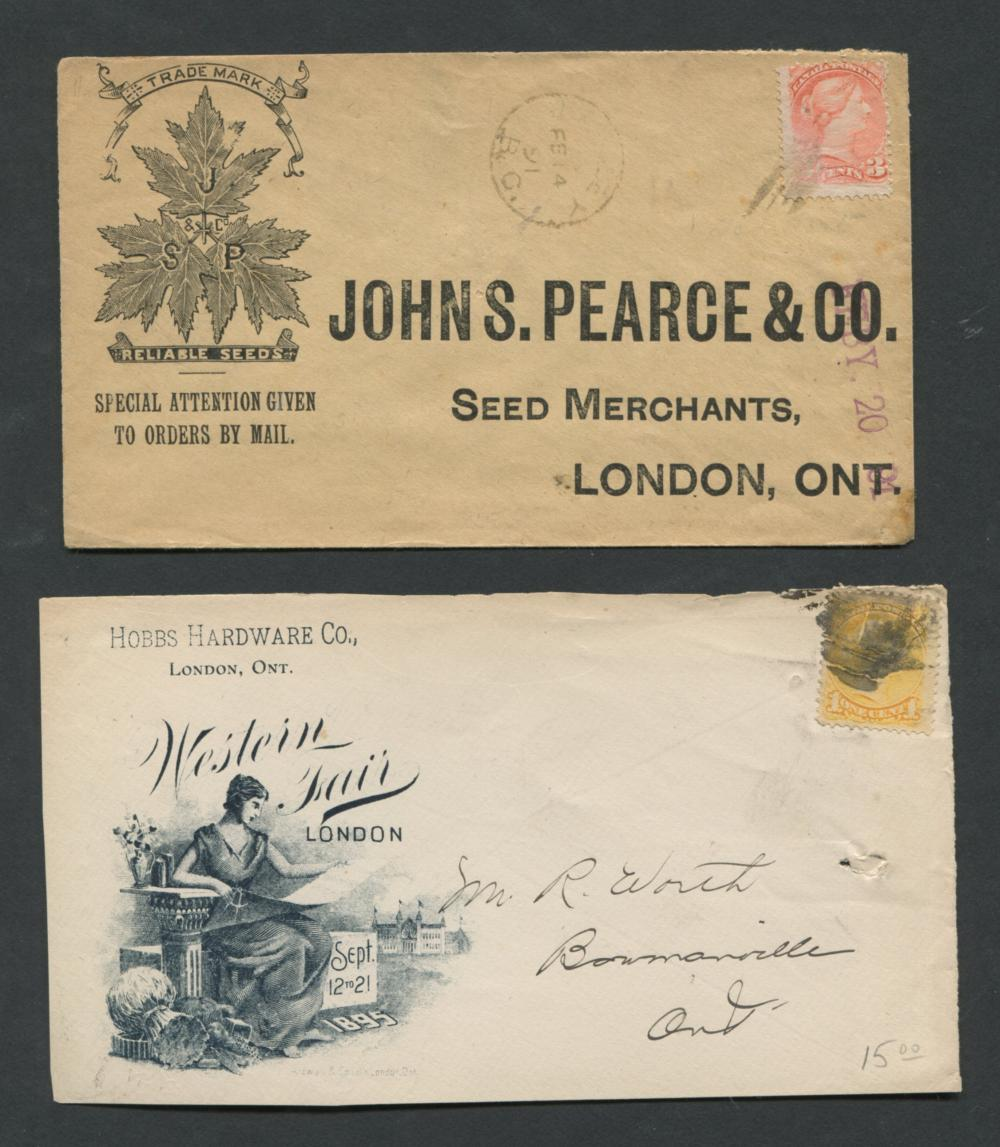 Canada Advertising Stamp Covers Collection 1873-91