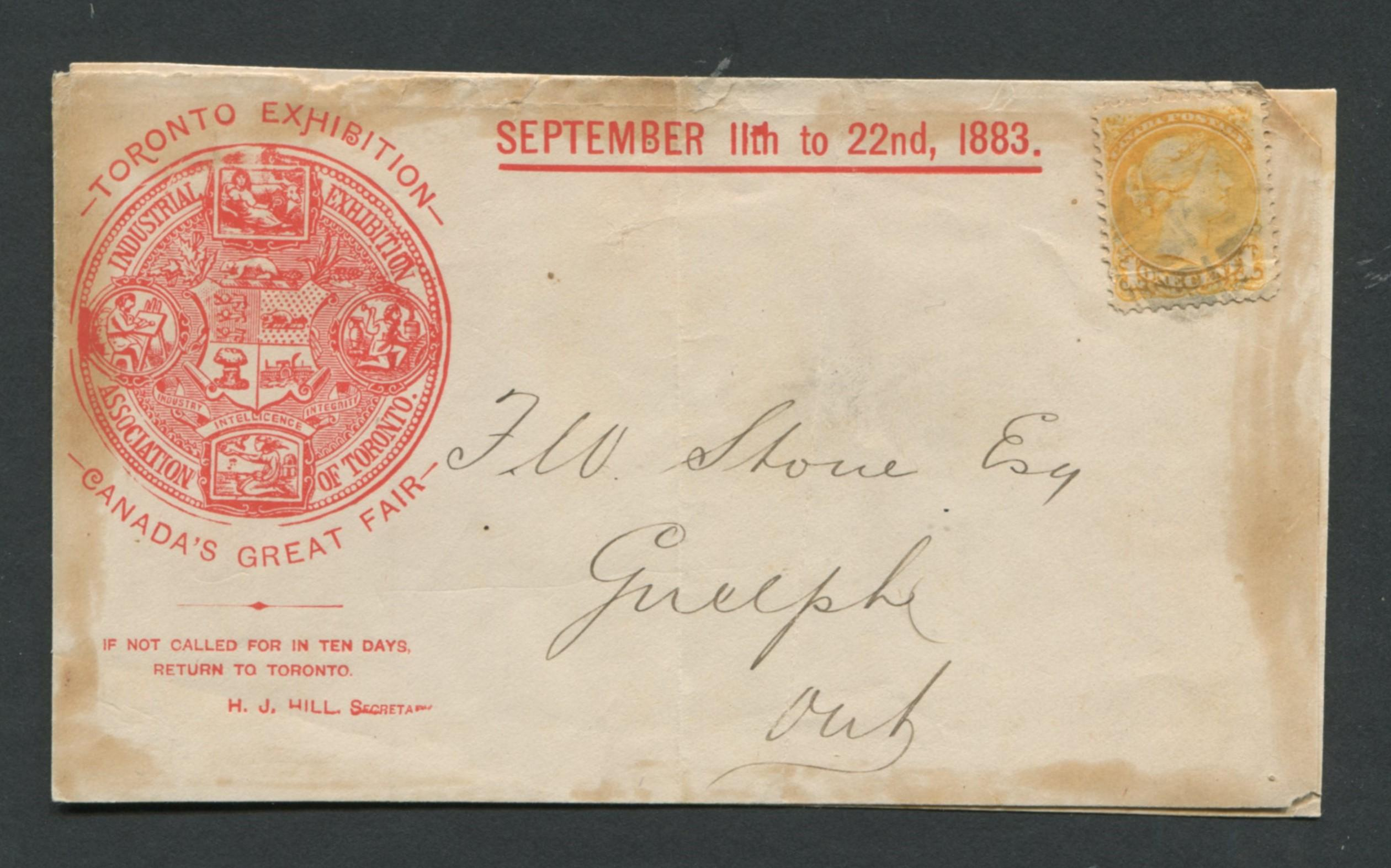 Canada Advertising Cover 1883 RARE