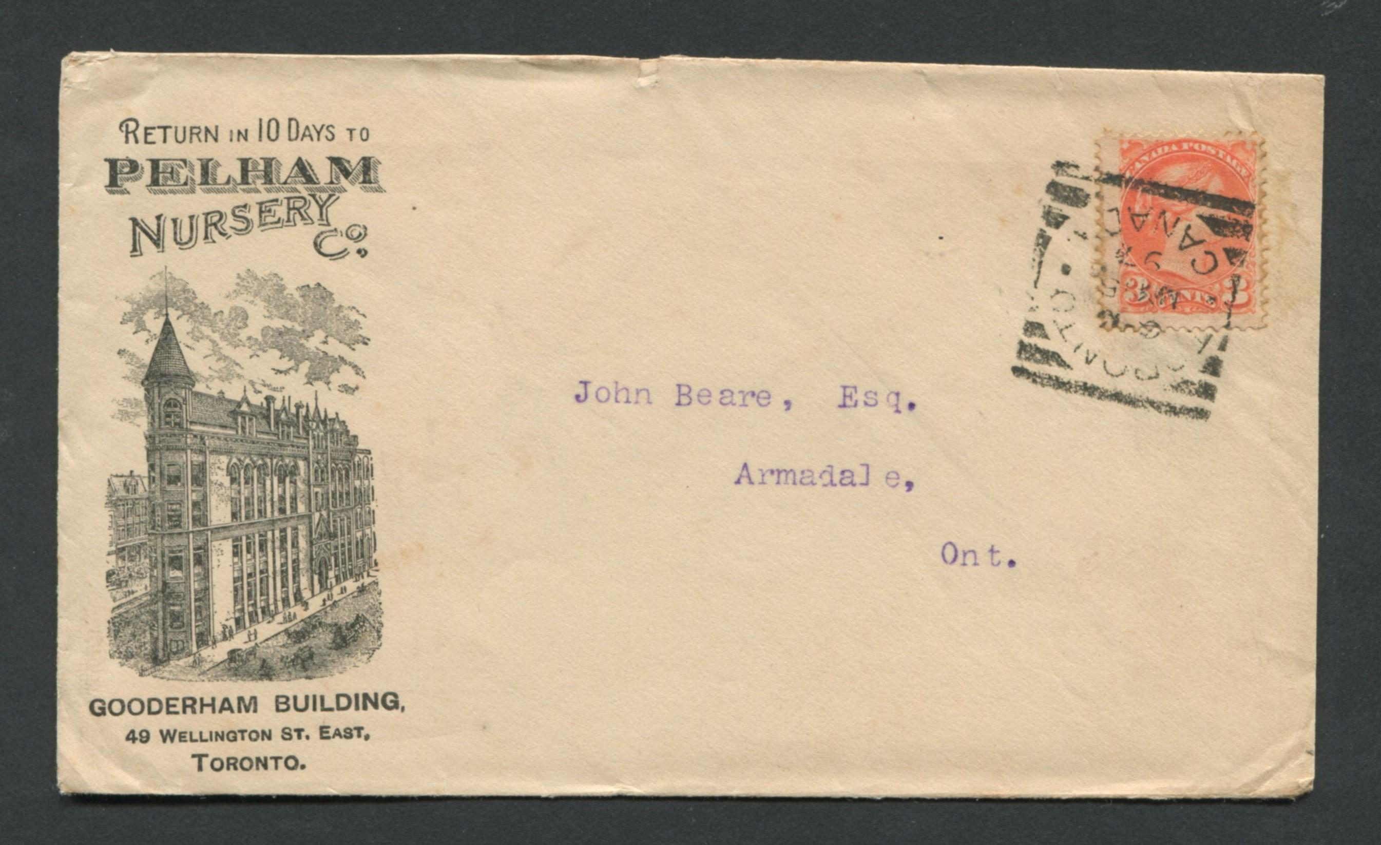 Canada Advertising Cover 1897 RARE