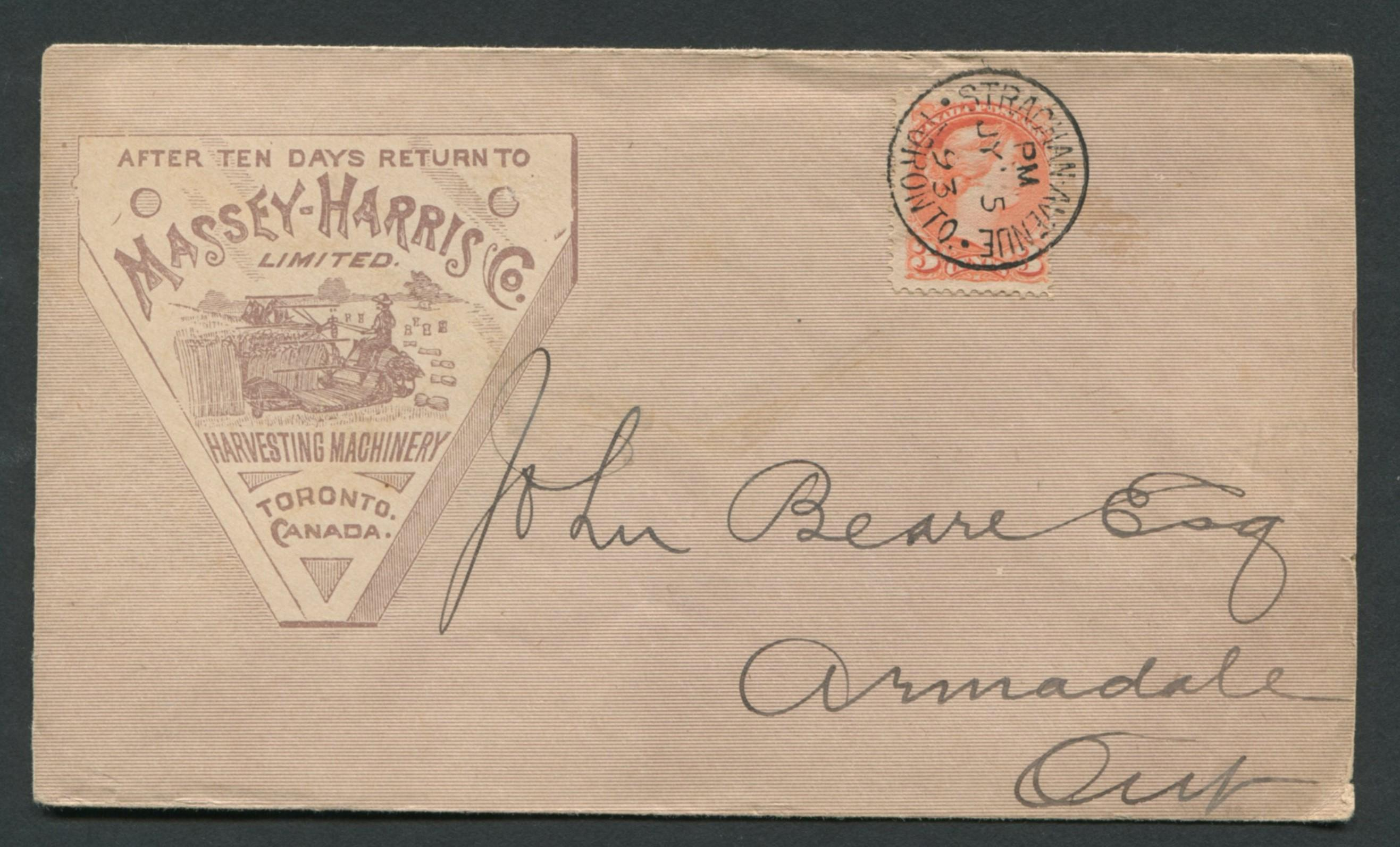 Canada Advertising Cover 1893 RARE