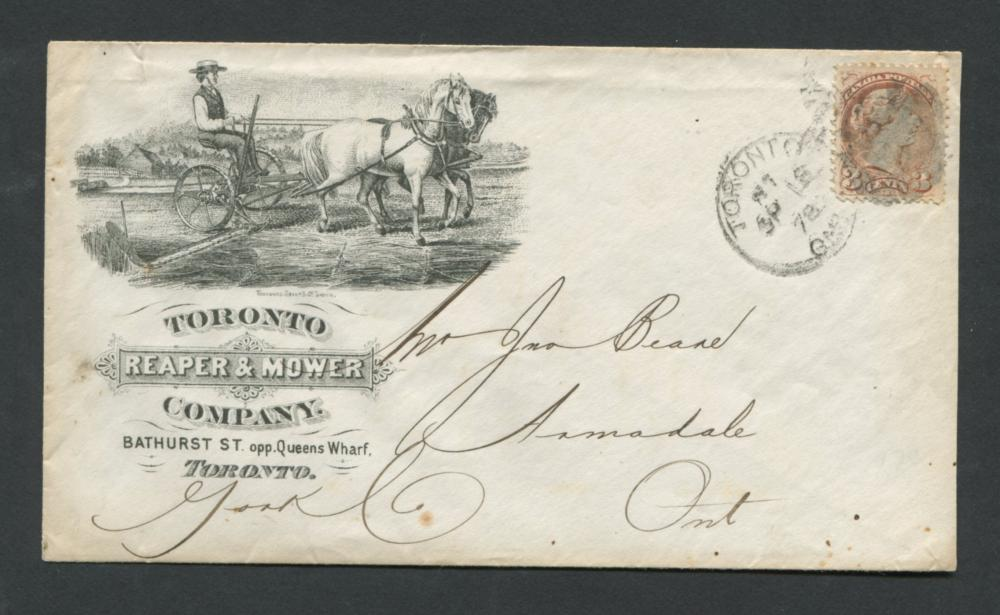 Canada Advertising Cover 1878 RARE