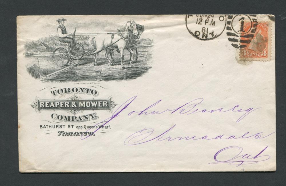 Canada Advertising Cover 1881 RARE