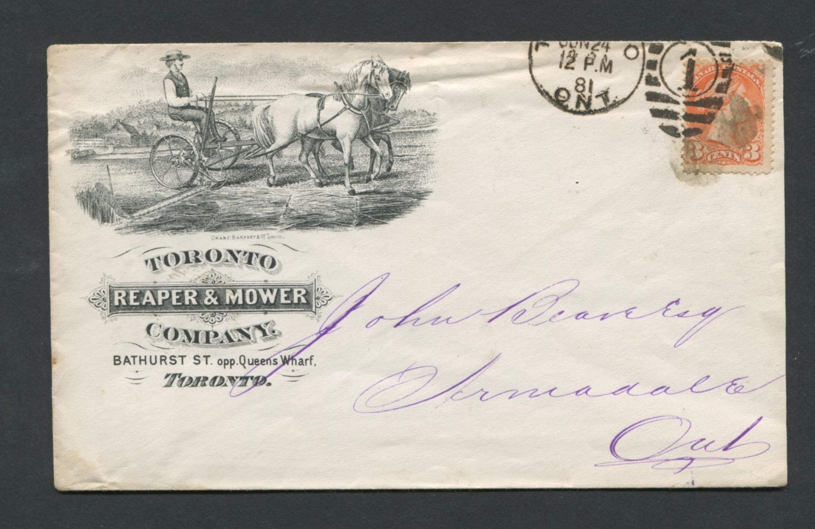 Canada Advertising Cover 1881 RARE