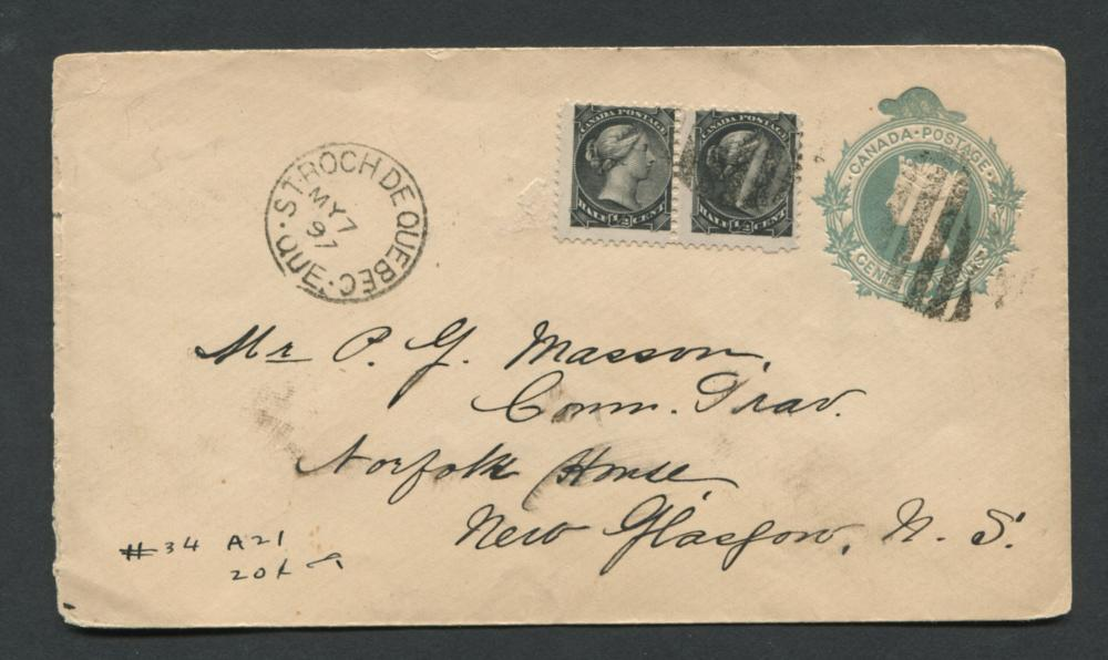 Canada Stamp Cover 1/2c Small Queen 1897