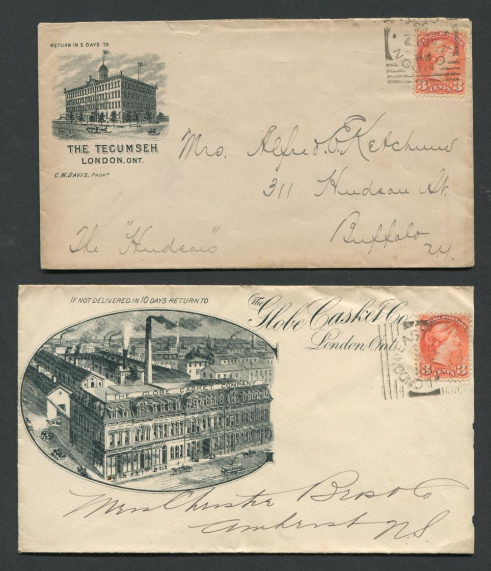 Canada Advertising Stamp Covers 2