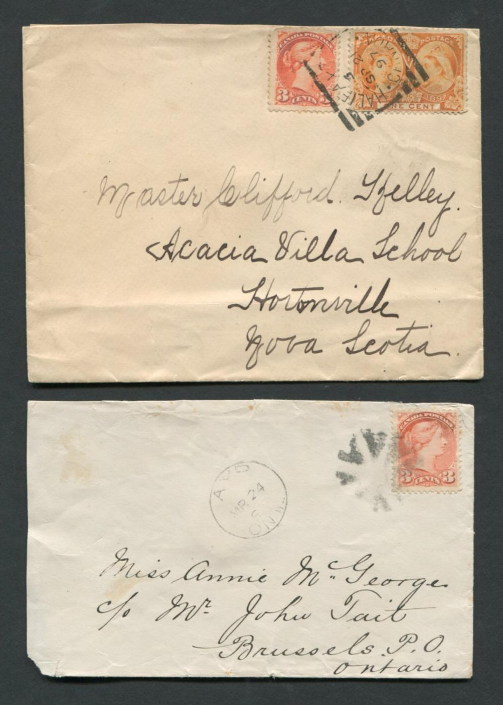 Canada Victoria Stamp Covers 1