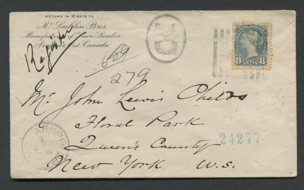 Canada Advertising Stamp Cover 1895