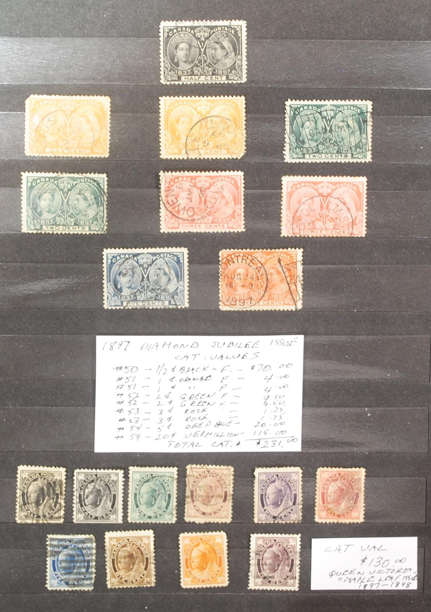 Canada Queen Victoria collection (41 stamps) 1897-1902