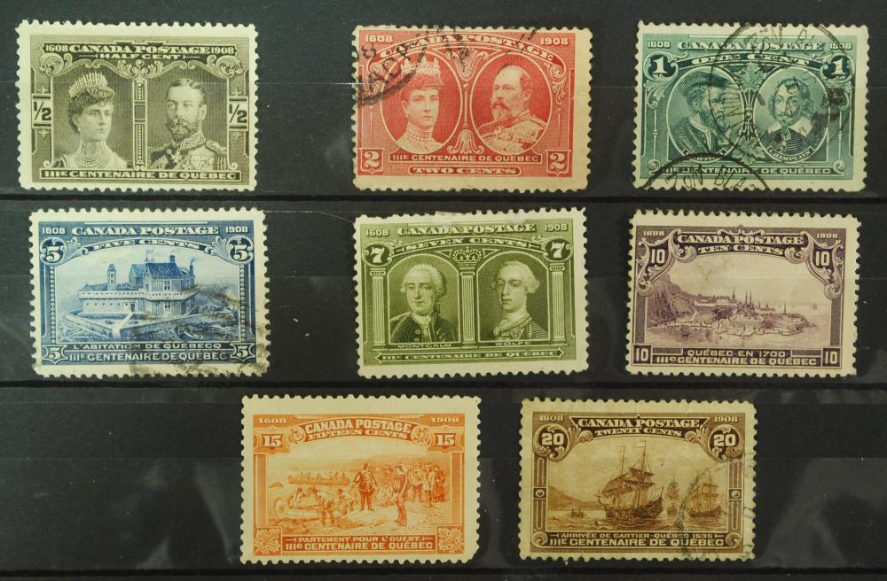 Canada Quebec Tercentenary 1908 (8 stamps)
