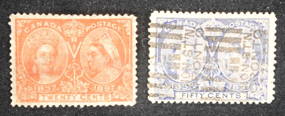 Canada Diamond Jubilee Issue (2 Stamps) 1987 #59, #60