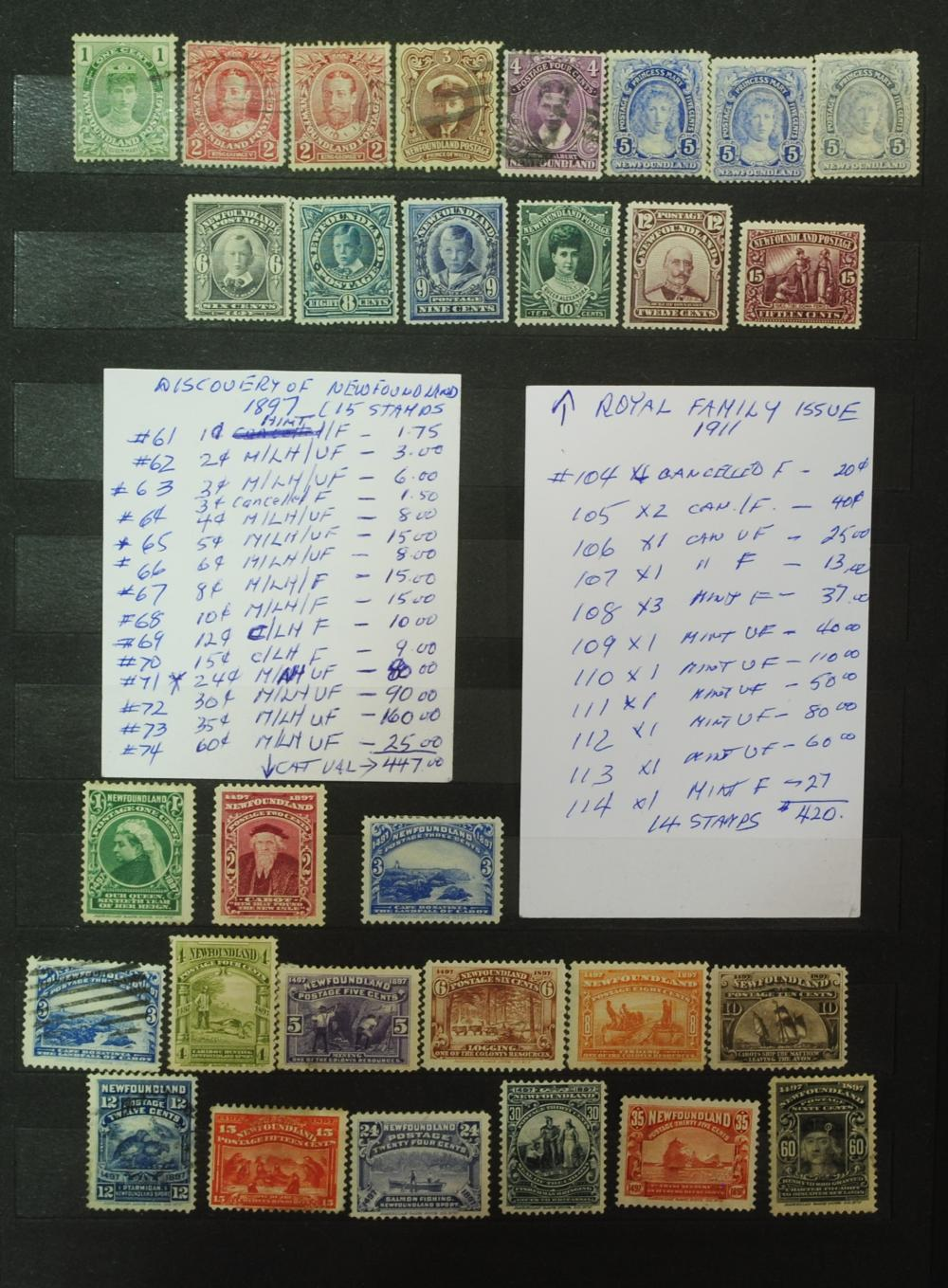 Canada Newfoundland Stamp Collection 1