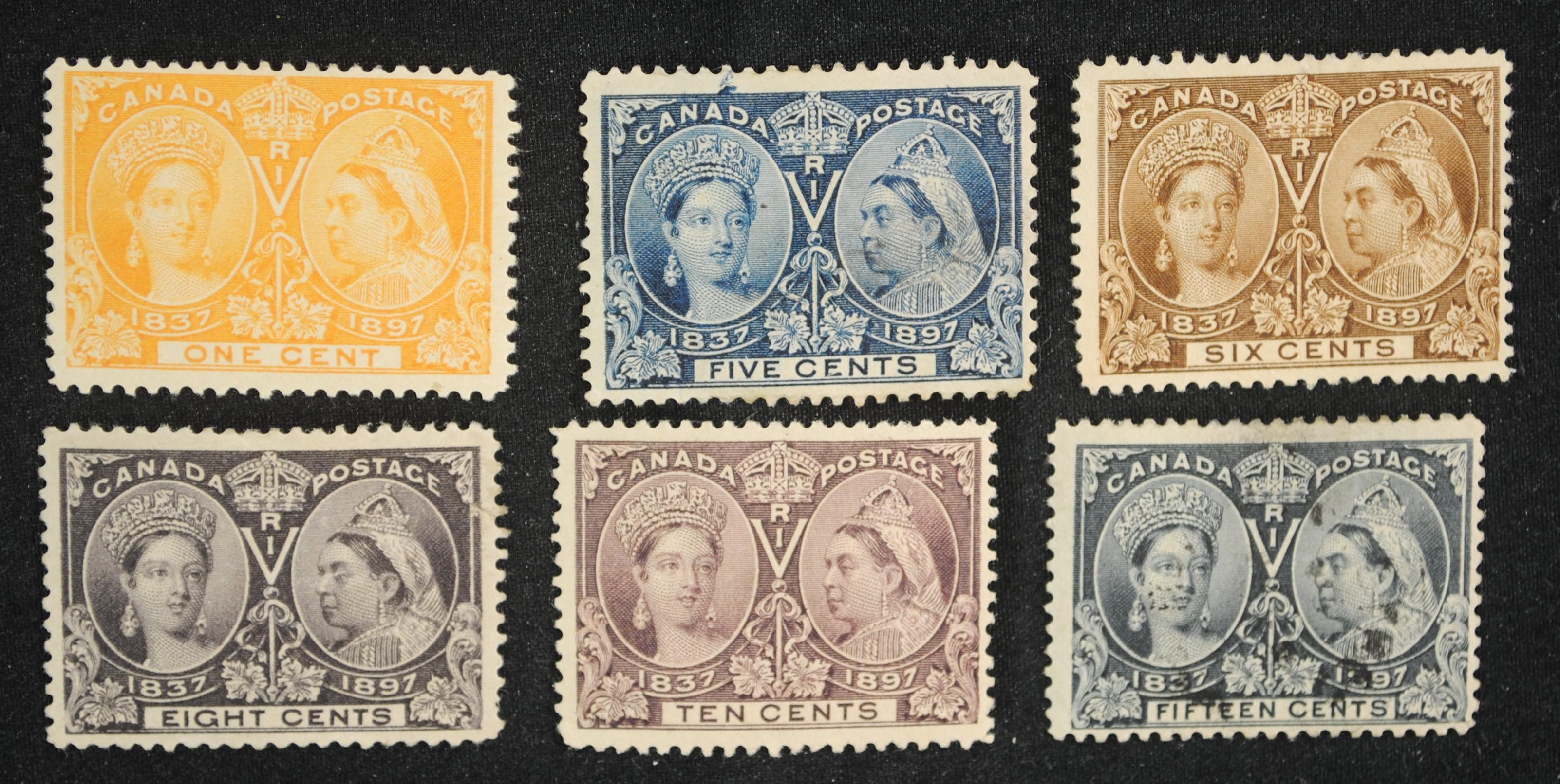 Canada Diamond Jubilee Stamps 1897
