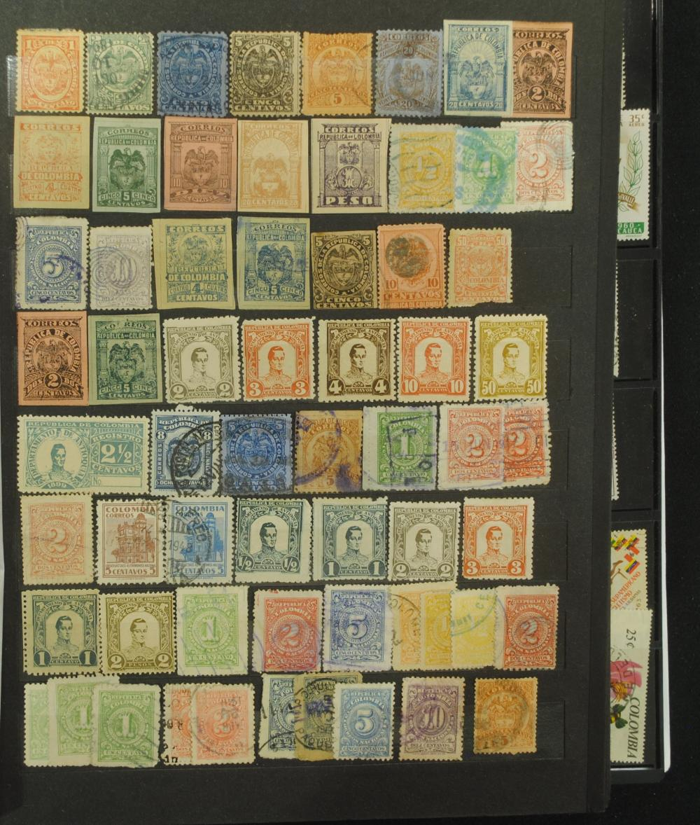 Columbia Stamp Collection Over 1000 Stamps
