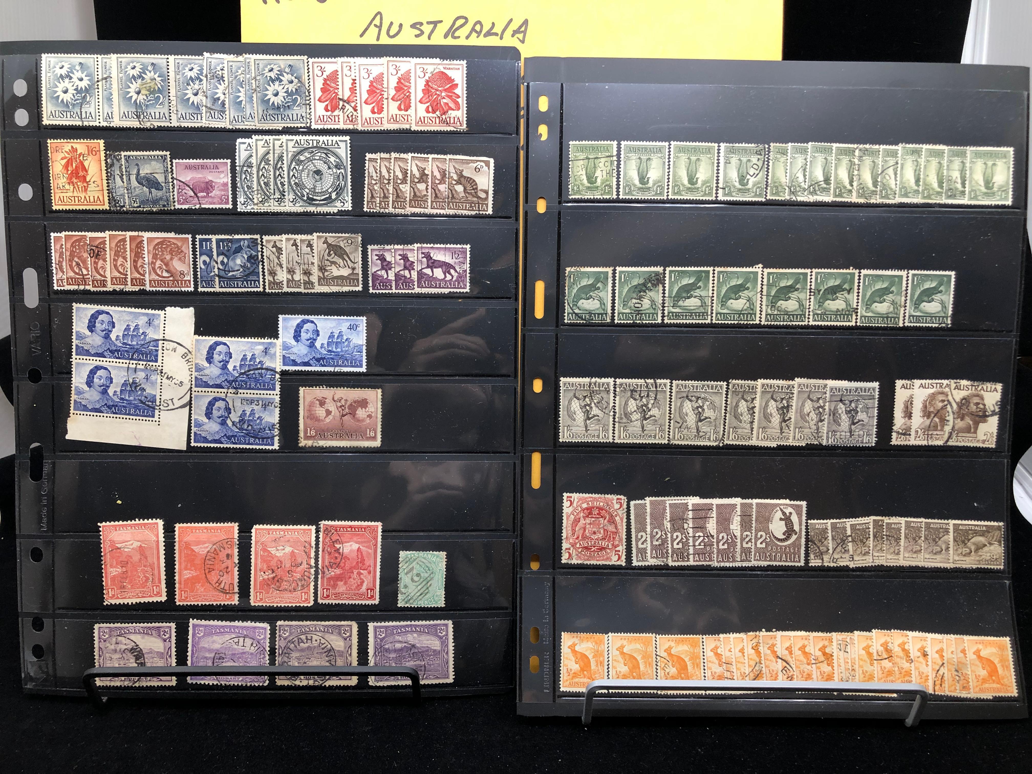 Austria Stamp Collection and Tasmania