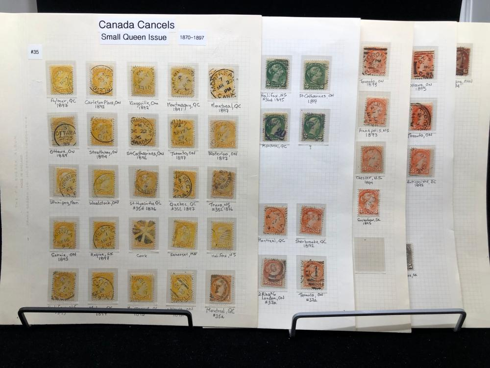 Canada - Small Queen Dated Town Cancels Collection