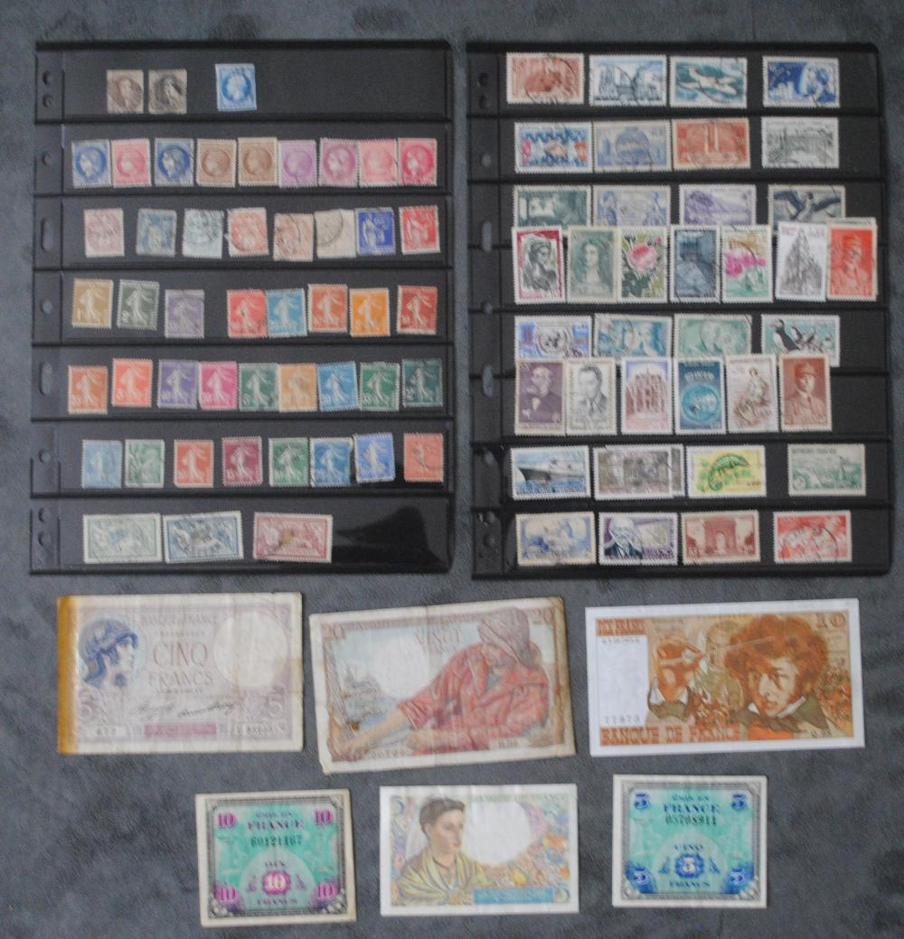 France Stamp and Banknote Collection