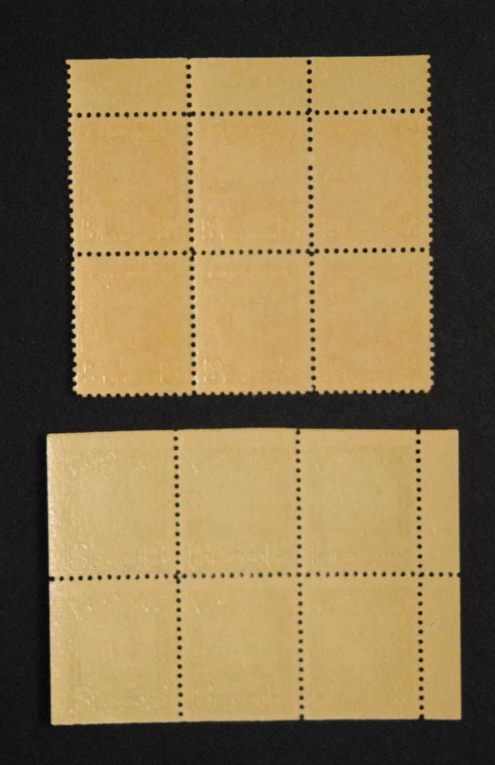 Canada 8c Block of 6 S/C #222, 2c Block of 6 S/C #150a