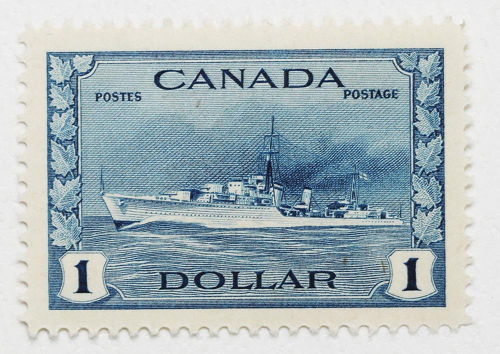 Canada $1 S/C #262 Destroyer MNH XF