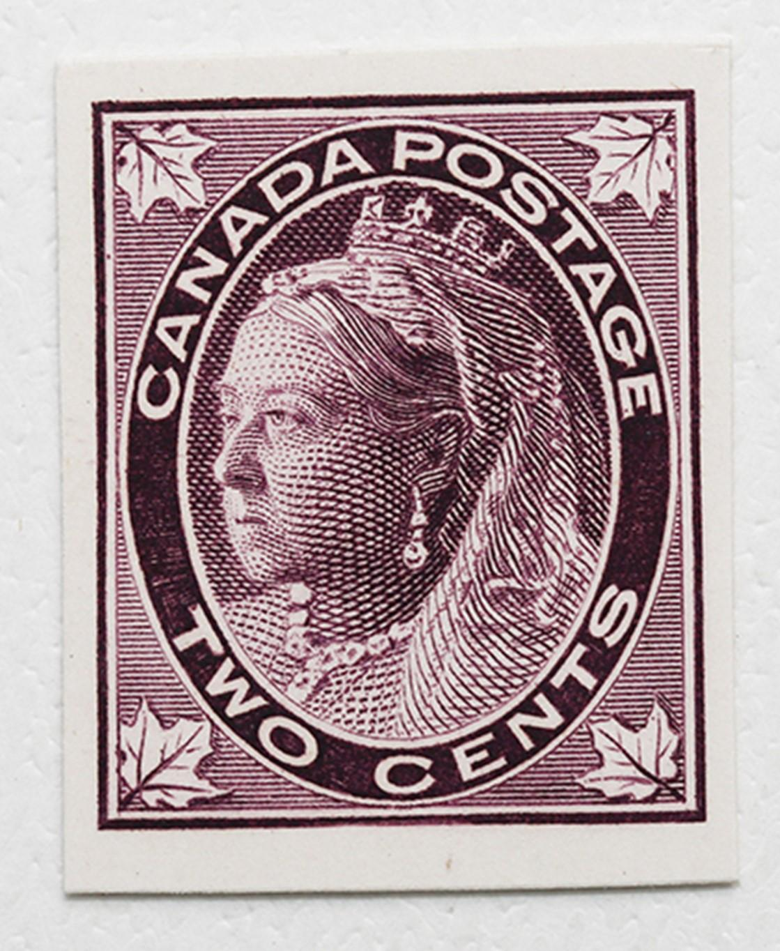 Canada S/C #68P MNH Deep Purple Plate Proof
