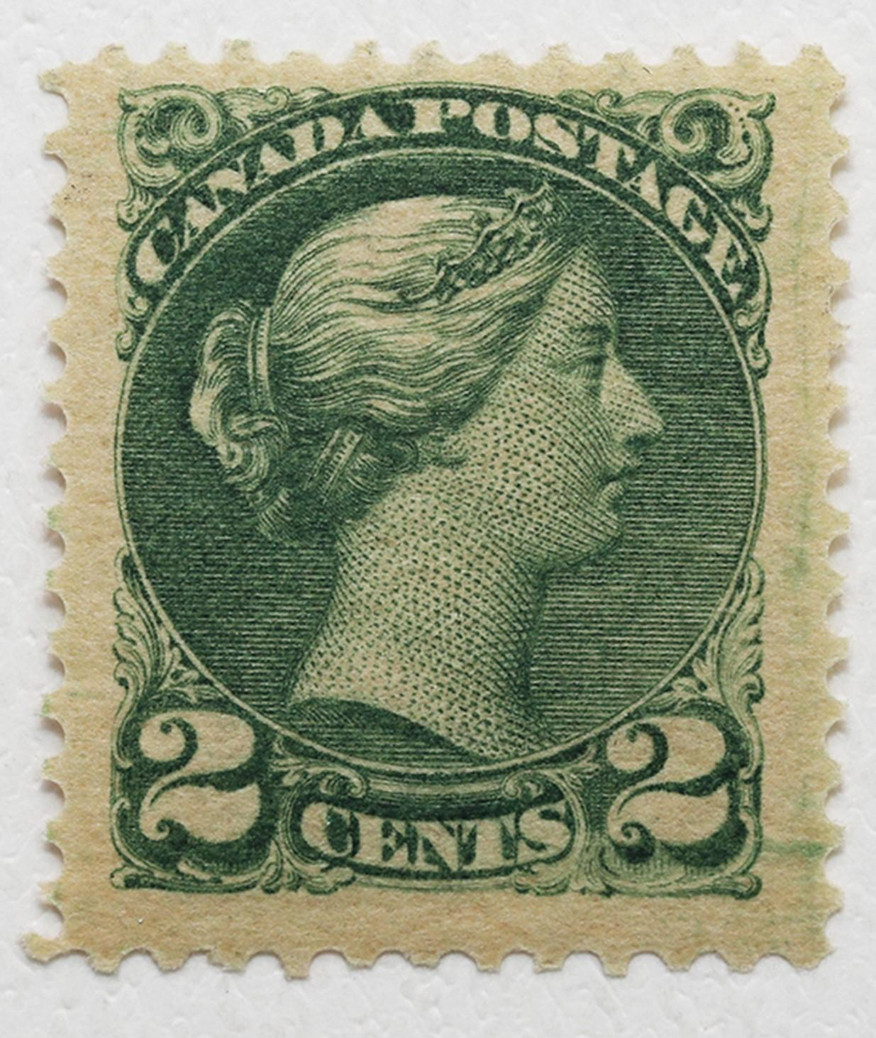 Canada 2c S/C #36 Green MNH OG VF