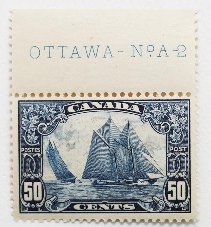 Canada 50c S/C #158 Bluenose VF+ MNH
