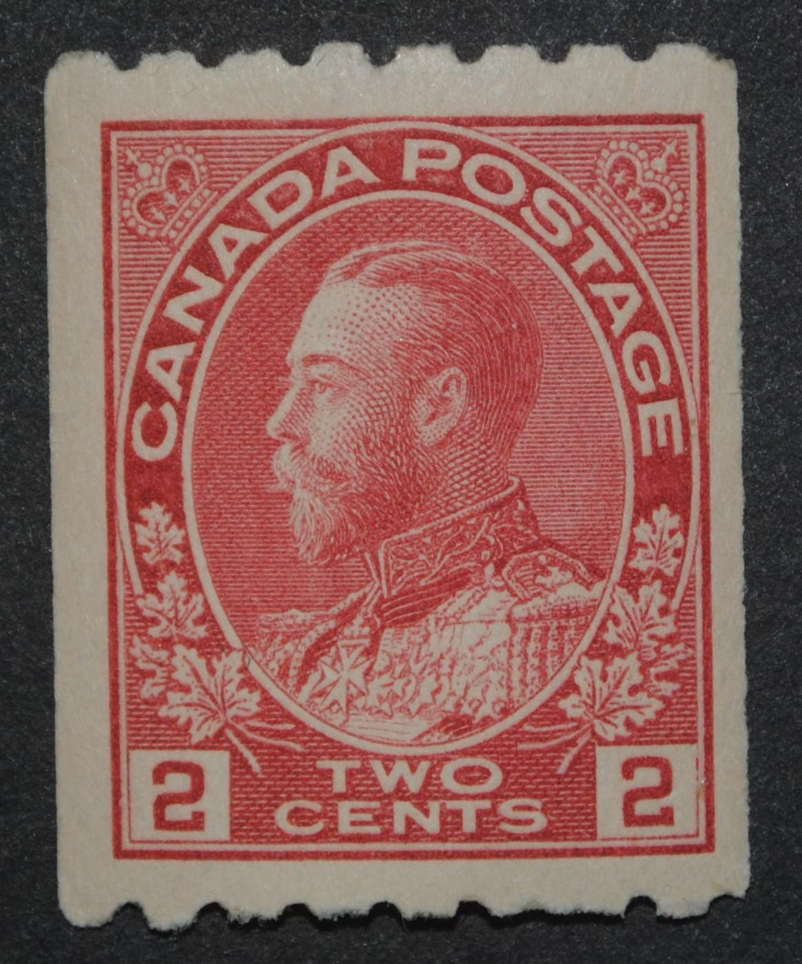 Canada 2c S/C #124 Perf 8 VF OG MNH