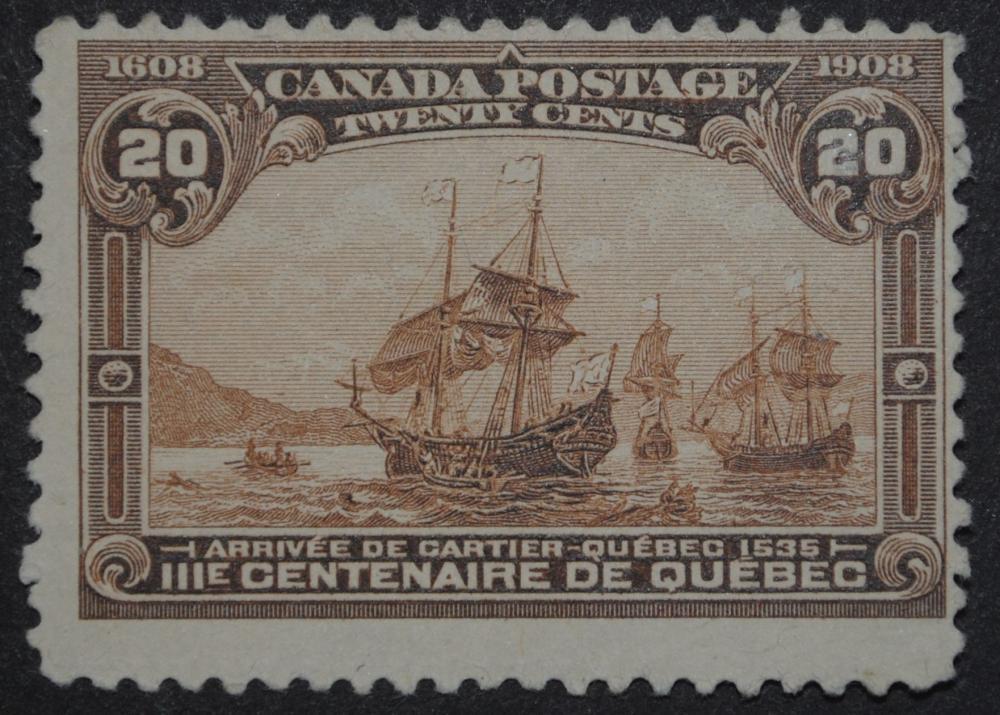 Canada 1908 20c S/C #103 Fine Used