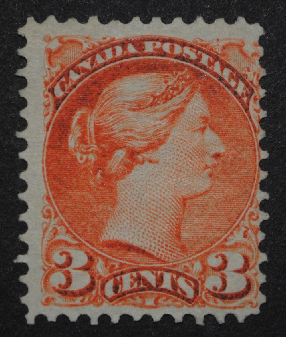 Canada 1870 3c Small Queen S/C #37 F/VF M