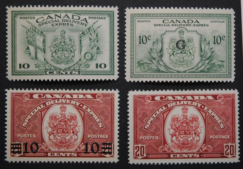 Canada Special Delivery 4 Stamp Collection