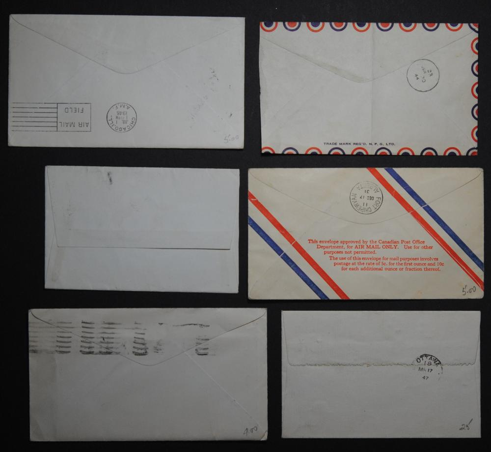 Canada 6 Stamps and Letters Collection 1