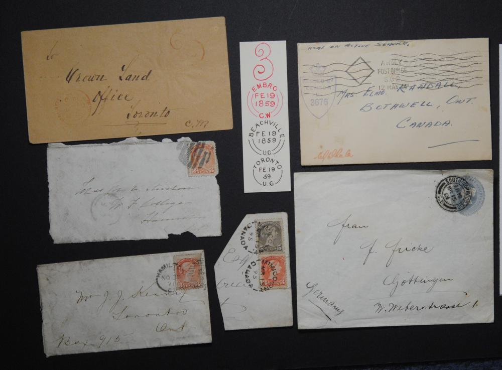 Canada 6 Stamps and Letters Collection 3