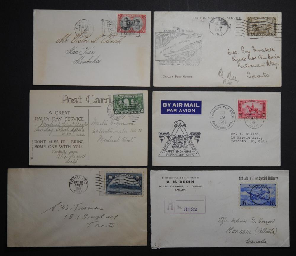 Canada 6 Stamps and Letters Collection 2