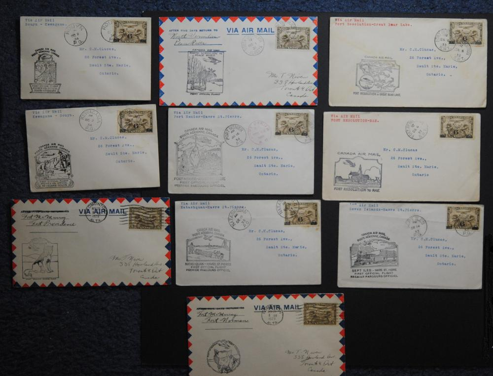 Canada 10 Stamps and Letters Collection