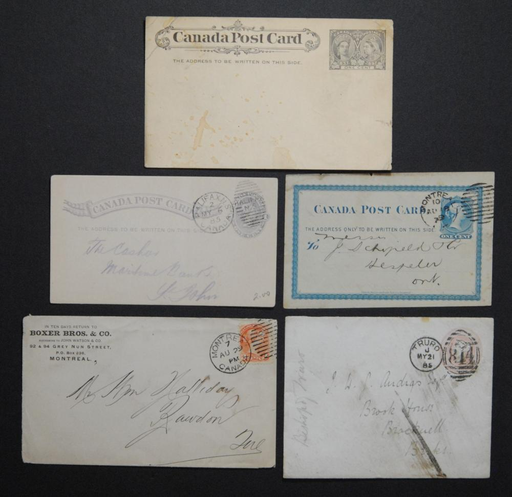 Canada Stamp, Letters and Postcards Collection