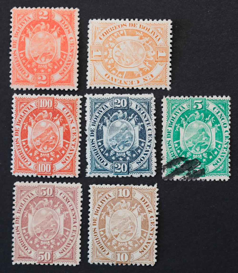 Bolivia 1894 S/C #40 and S/C #46