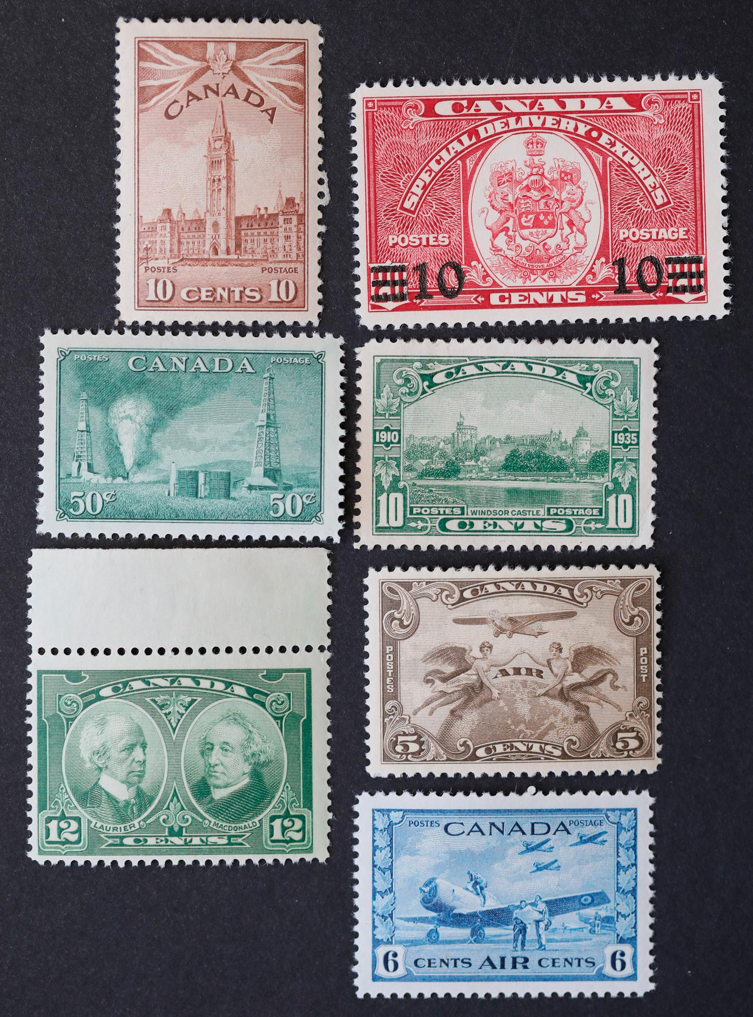 Canada 7 Mint Stamp Collection 1
