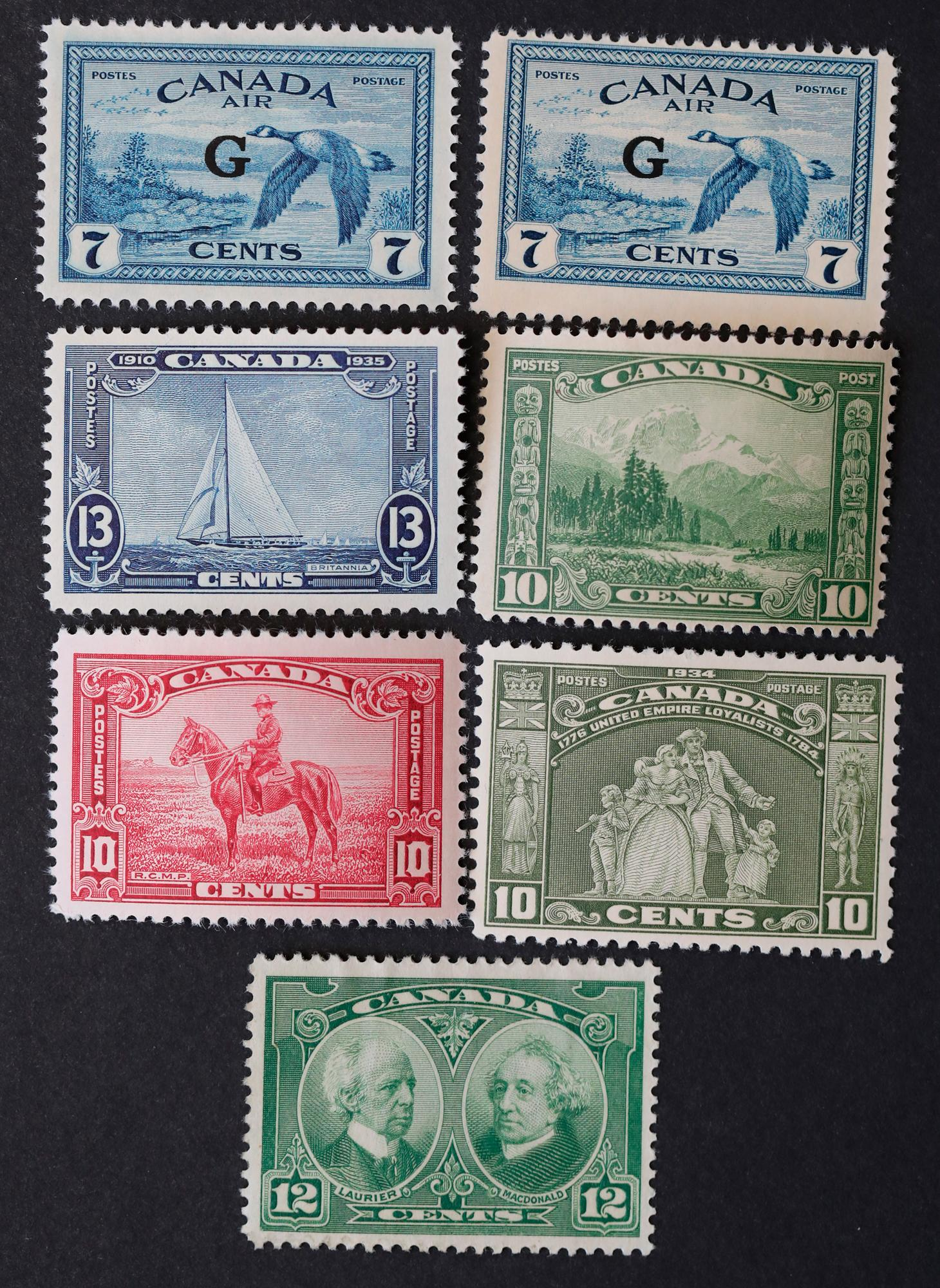 Canada 7 Mint Stamp Collection 2