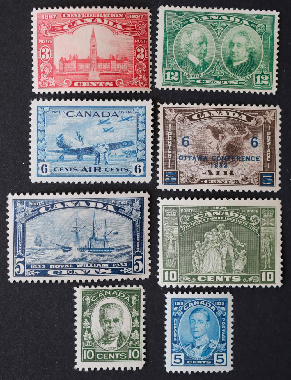 Canada 9 Mint Stamp Collection