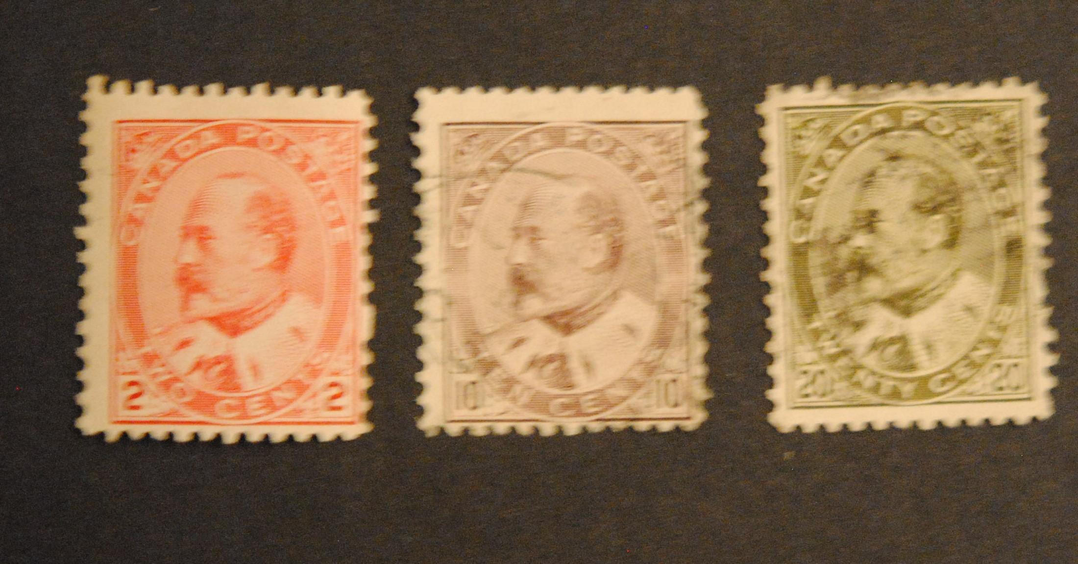 Canada 1903 S/C #90 2c, 10c and 20c