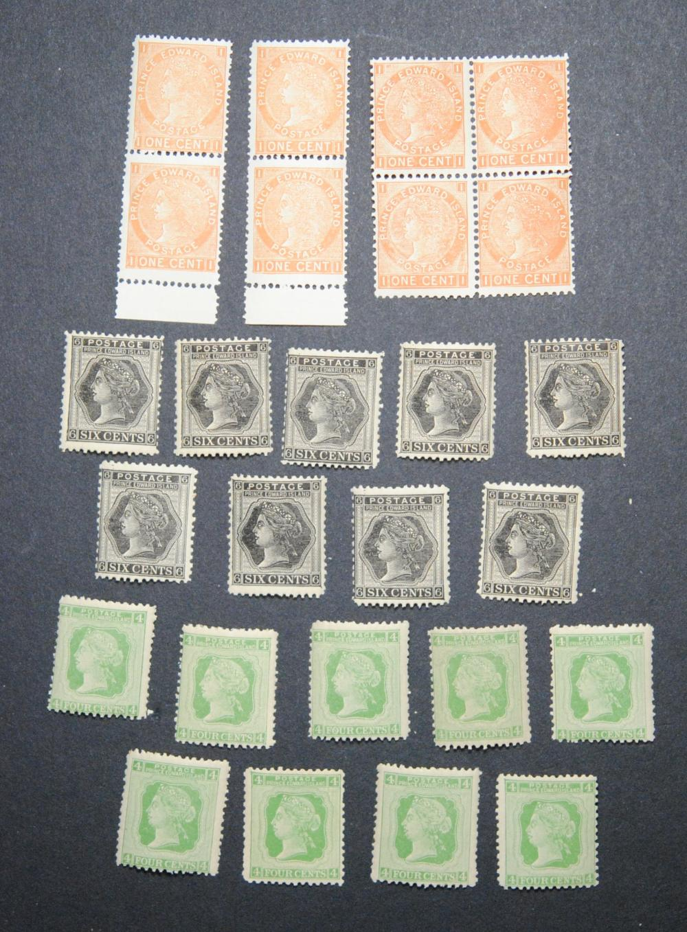 Canada Prince Edward Island Victoria Stamp Collection
