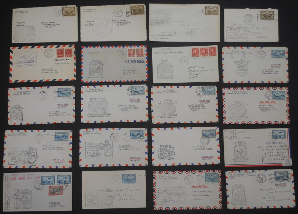 Canada First Flight Air Mail Covers Collection