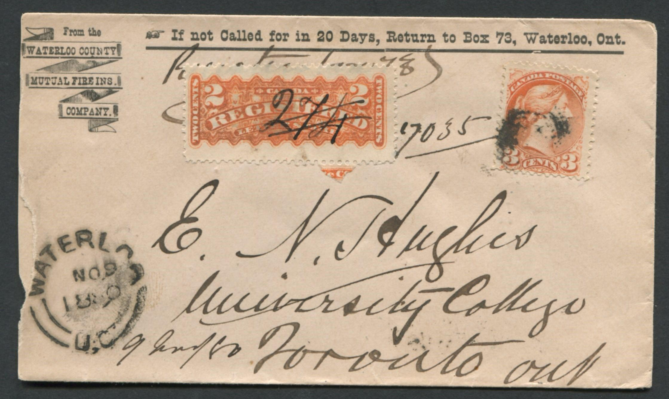 Canada Advertising Stamp Cover 1890