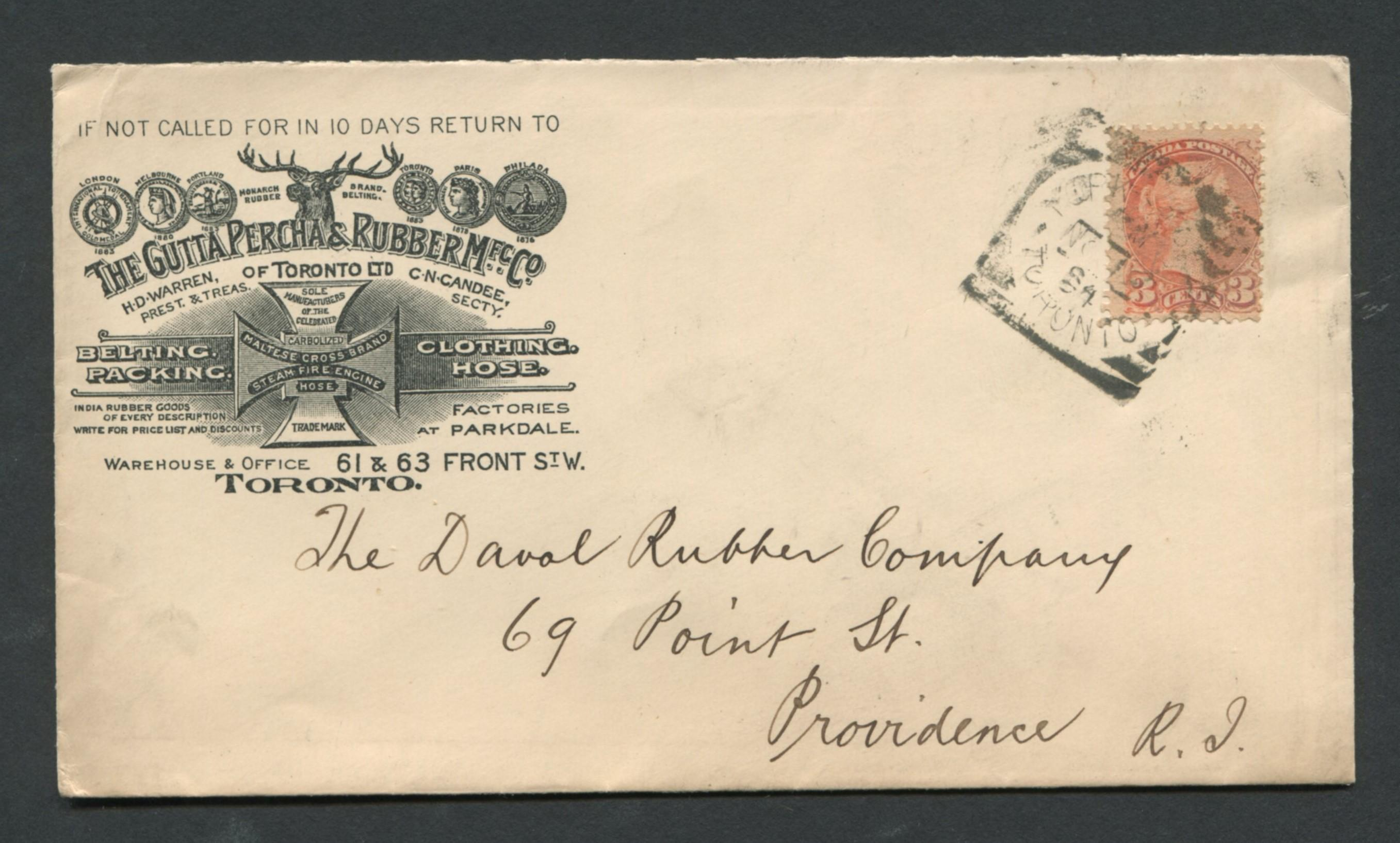Canada Advertising Stamp Cover 1894