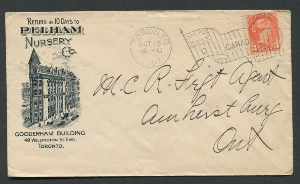 Canada Advertising Stamp Cover 3c 1897