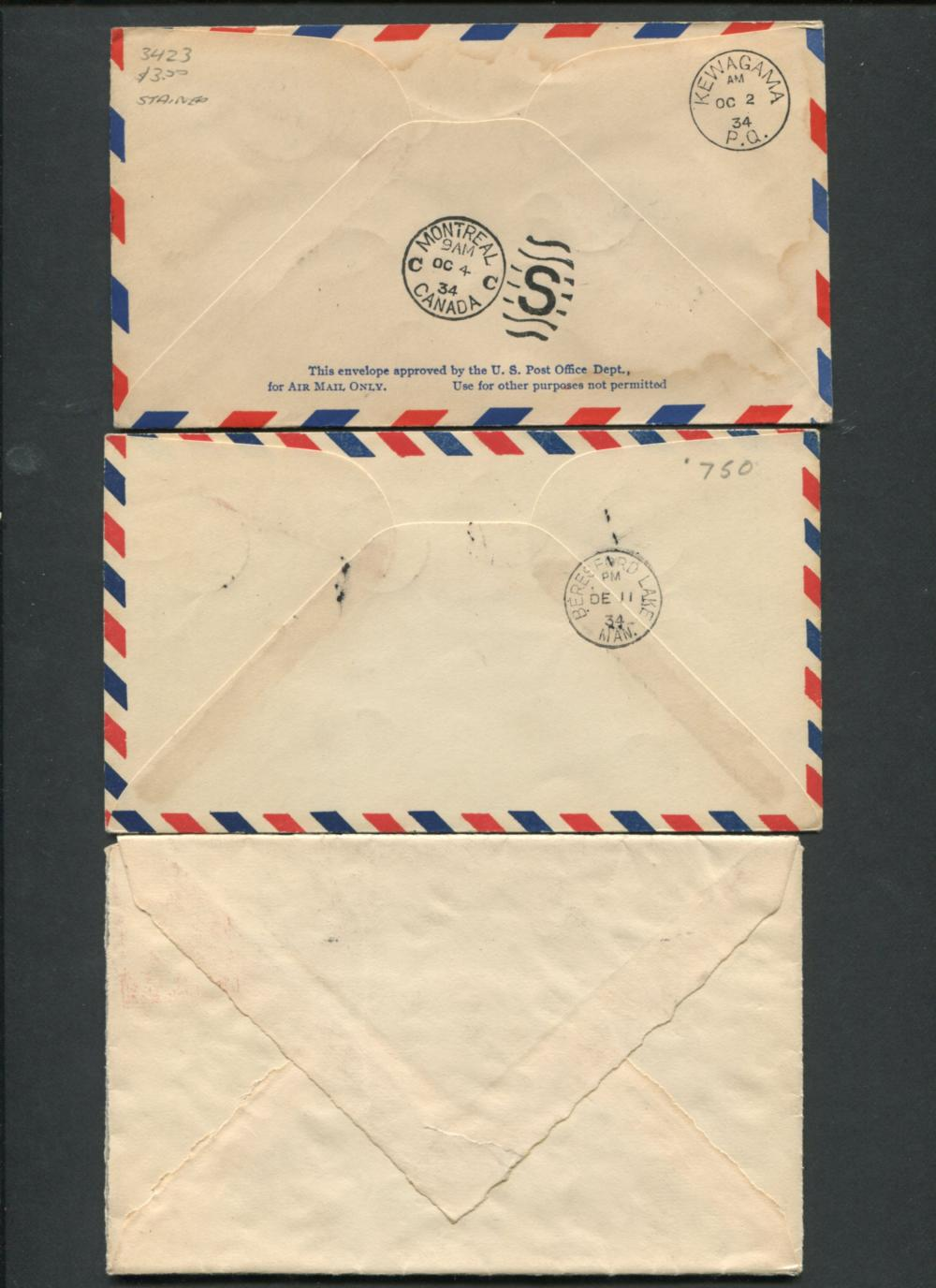Canada First Flight Stamp Covers 1