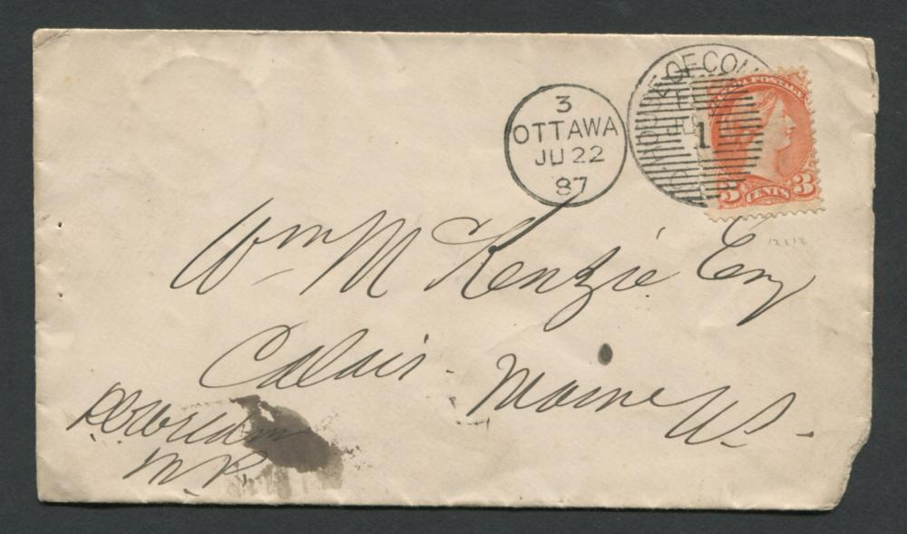 Canada House of Commons Stamp Cover
