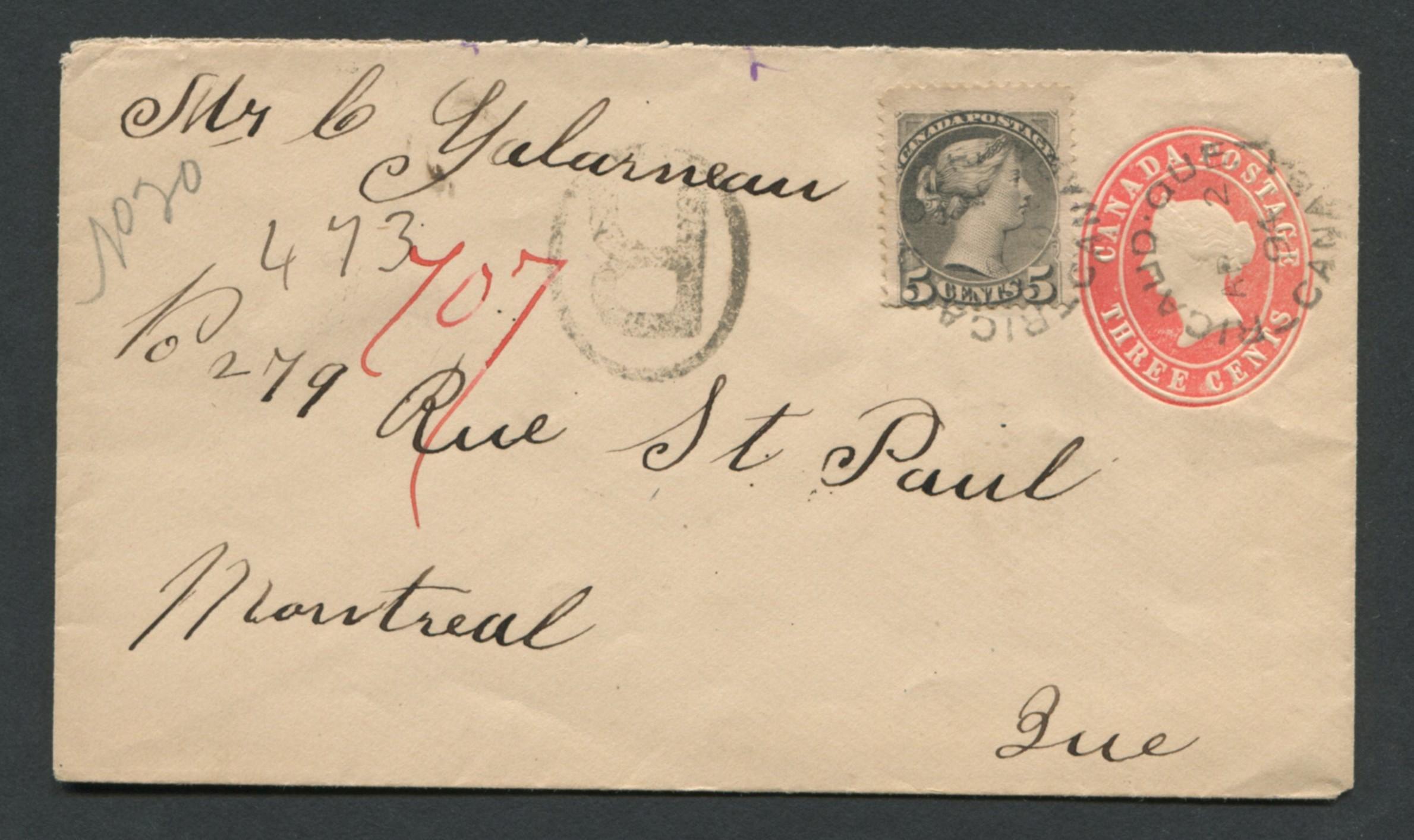 Canada Victoria Stamp Cover