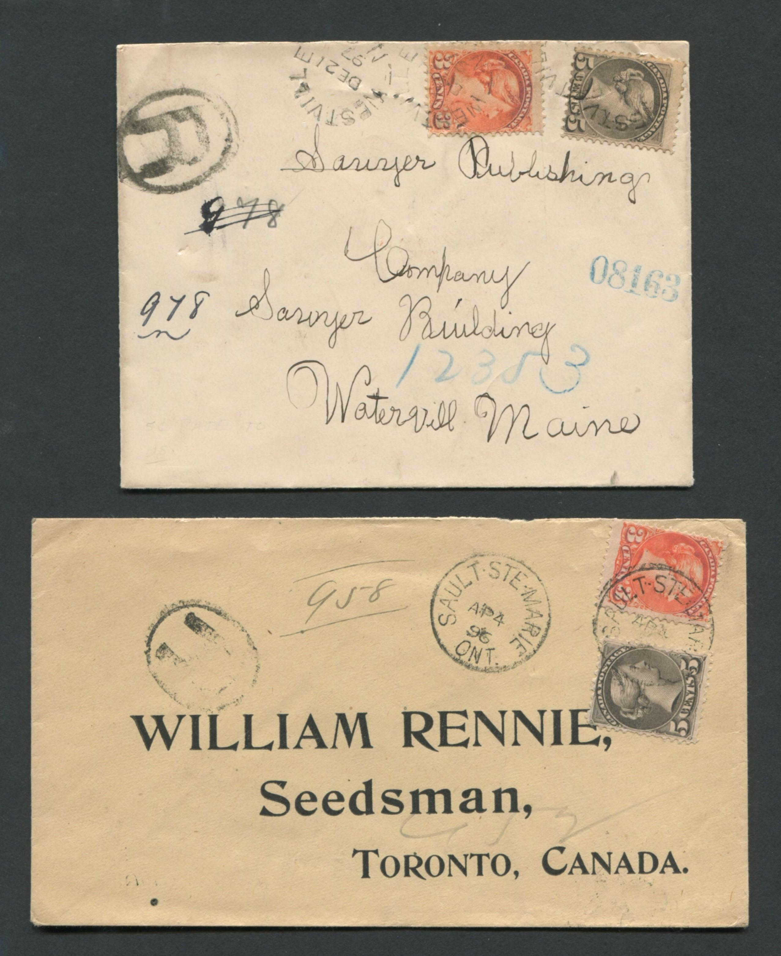 Canada Victoria Stamp Covers 2