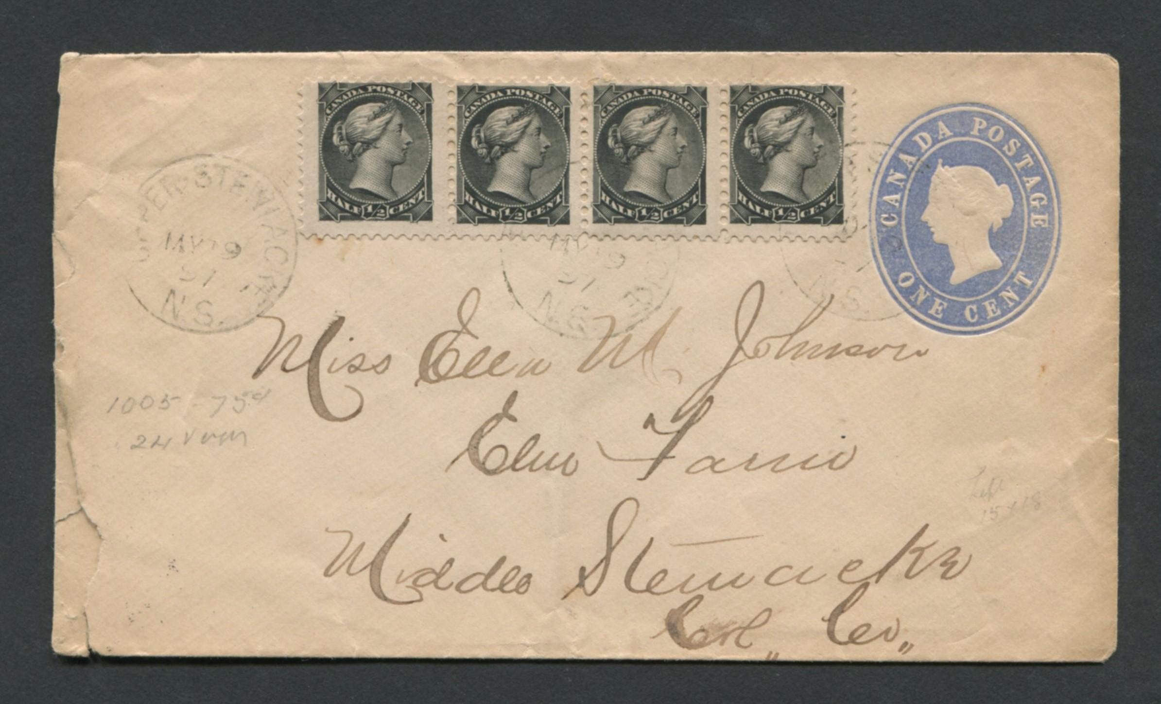Canada Victoria Stamp Cover 6x 1/2c 1897